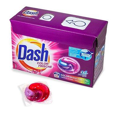 Brohl Wellpappe entwickelt zertifizierte kindersichere Waschmittel Verpackung Dash