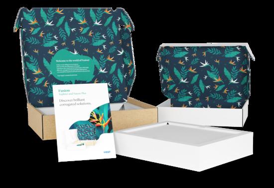 Hochwertig bedruckte E-Commerce Verpackung für Sappi Europe