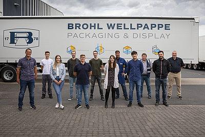 6 neue Azubis bei Brohl Wellpappe im Werk Mayen