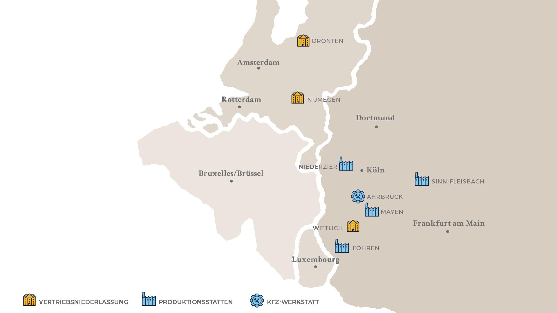 Standortkarte Brohl Wellpappe