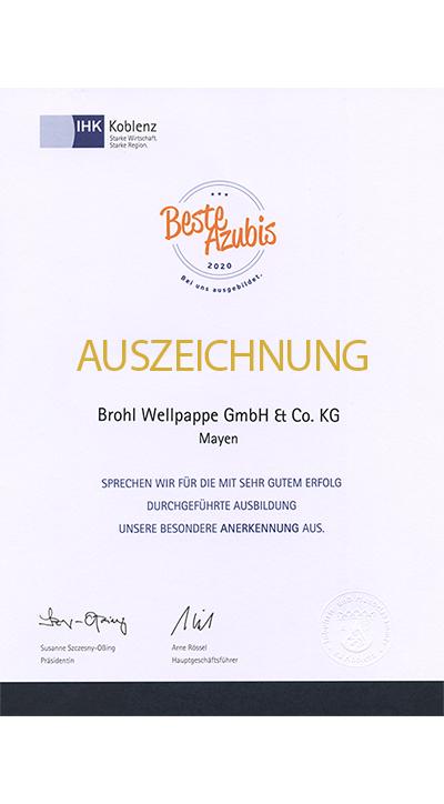 Beste Azubis Auszeichnung IHK Koblenz