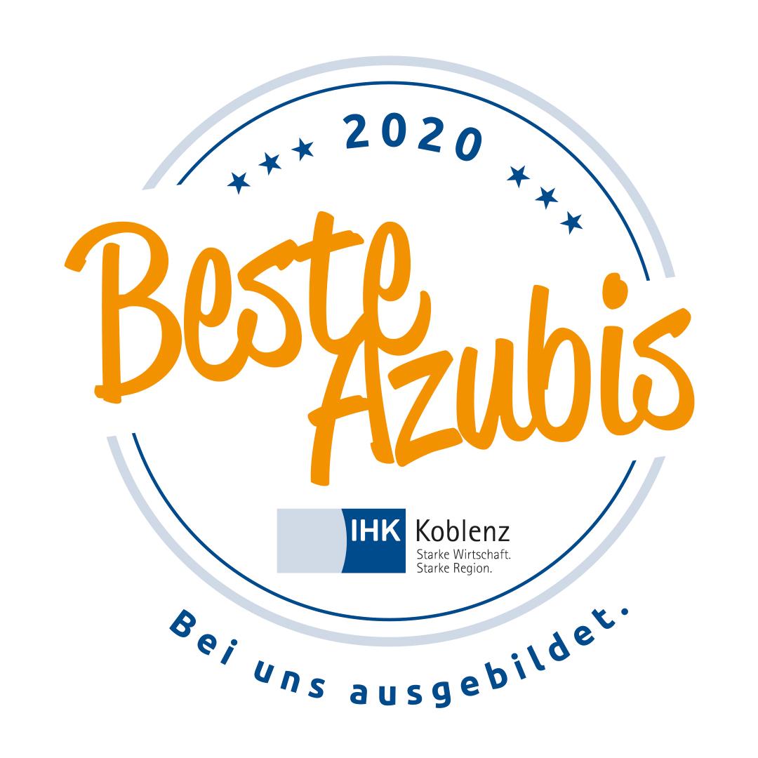 Beste Azubis Siegel der IHK Koblenz für Ausbildung 2020 bei Brohl Wellpappe