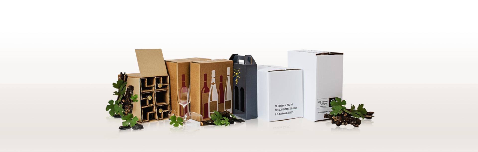 Onlineshop von Brohl Wellpappe für Weinverpackungen